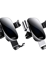 cheap -Phone Holder Stand Mount Car Air Vent Outlet Grille Dashboard Gravity Type Metal ABS Phone Accessory iPhone 12 11 Pro Xs Xs Max Xr X 8 Samsung Glaxy S21 S20 Note20