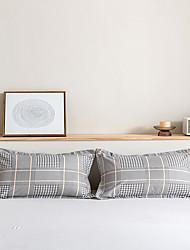 cheap -2 Pack 50*75cm Pillowcases/Pillow Shams Print Soft Microfiber Plaid