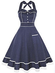 cheap -Audrey Hepburn Vintage Prom Dresses Dress Women's Spandex Costume Dusty Blue Vintage Cosplay Homecoming Date Sleeveless A-Line