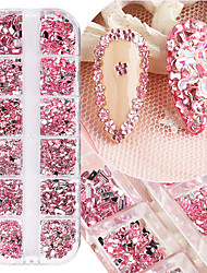 cheap -12 Grid Resin Special-Shaped Glass Nail Design Shinny Nail Art Decoration Resin Point bottom Rhinestones Glue On Jewelry Nail Art Wedding Dress Decoration DIY