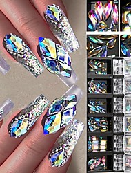 cheap -3D AB Diamond Gems Nail Glitter Rhinestone Glass 12 Boxs/Set Crystal Nail Art Decor Nail Art Decorations Ozdoby Do Paznokci