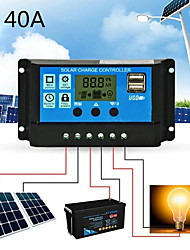 cheap -Solar Charge Controller for Lead-Acid Batteries with LCD and Auto Output Regulator 40A 12V 24V Solar Charge Controller not for Lithium