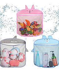 cheap -Bath Toy Organizer Storage Set of 3 Holders-Baby Bathtub Toys Quick Dry Mesh Bag with Suction, Toddler Play Bathroom Storage Tray Bag Shower Caddy for 1 2 3 4 5 Year Old Toddlers Baby Kids, 3 Styles