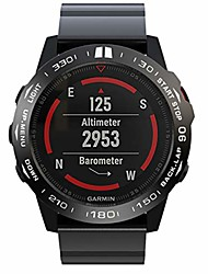 cheap -scicalife compatible for garmin fenix 5x watch shell watch protective case chic watch frame watch accessories (black ring, white letter)