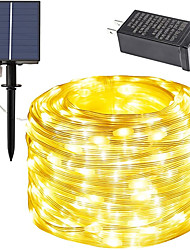 cheap -Solar Power String Light 20M 30M 50M with Remote Control Thanksgiving Christmas Outdoor Party Garden Decoration Fairy Lights Plug-in Dual Purpose Gypsophila Copper Wire Lights Set 24V