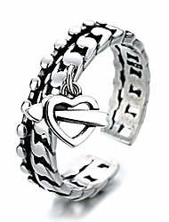 cheap -cupid sword heart love hollow twist knot rope double layer open rings adjustable romantic promise wedding engagement statement finger knuckle rings endless love jewelry gifts her girlfriend christmas