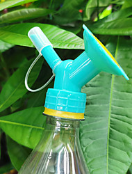 cheap -2Pcs  2 in 1 Plastic Sprinkler Nozzle for Flower Plant Waterers Portable Plastic Bottle Watering Nozzle Plant Irrigation Easy Tool