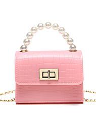 cheap -Women's Girls' Bags PU Leather Evening Bag Beading Party Birthday Handbags Wine White Blushing Pink Black