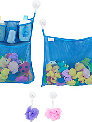 cheap -2 x Mesh Bath Toy Organizer + 6 Ultra Strong Hooks – The Perfect Bathtub Toy Holder & Bathroom or Shower Caddy – These Multi-use Net Bags Make Baby Bath Toy Storage Easy – For Kids & Toddlers
