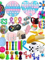 cheap -54 Pcs Sensory Toy for ADD OCD Autistic Children Adults Anxiety Autism to Stress Relief and Anti Anxiety with Motion Timer Perfect for Classroom Reward with Gift Box