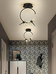 cheap -LED Mini Ceiling Light Porch Light Corridor Light Dragonfly Design Black Gold 33 cm Single Design Pendant Light Metal LED Nordic Style 220-240V