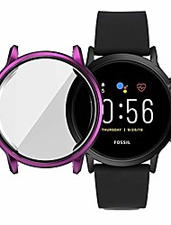 cheap -lingland suitable for fossil gen 5 carlyle all-inclusive electroplated tpu protective shell(purple) watch electronic watch protective case (color : black)