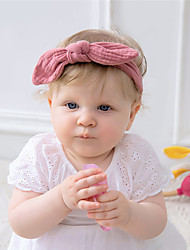 cheap -1pcs Baby Unisex Basic Daily Wear Solid Colored Bow Cotton Hair Accessories Dusty Rose / Khaki / Green Kid onesize / Headbands