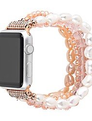cheap -Smart Watch Band for Apple iWatch 1 pcs Jewelry Design Elastic Beaded Replacement  Wrist Strap for Apple Watch Series 7 / SE / 6/5/4/3/2/1
