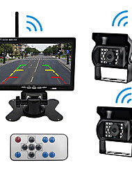 cheap -PZ607-W-2A LCD Digital Screen Wireless Car Reversing Monitor / Reversing Radar Kit Waterproof / 360° monitoring for Car