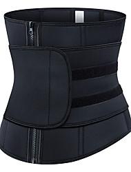 cheap -Corset Women's Plus Size Sport Underbust Corset Tummy Control Adjustable Solid Color Zipper Neoprene Polyester Running Gym Walking Driving Fall Winter Spring Summer Black