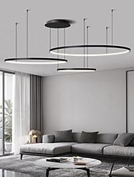 cheap -LED Pendant Light 40 60 80 cm Dimmable Pendant Light Aluminum Modern Style Classic Black Contemporary Modern 110-240 V