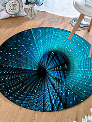 cheap -Round 5mm Area Rugs Machine Made Polyster Non Skid Modern 3D