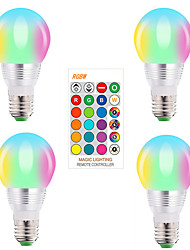 cheap -LED Spot Light 4pcs RGBW Magic Bulb Smart Control LED Color Changing Light E27 Bombillas 5W LED Dimmable Lamp AC85-265V