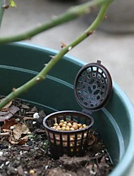 cheap -20 PCS Bonsai Fertilizer Box Mini Automatic Planting Fertilizers Baskets Slow Release Fertilization Container for Bonsai Plant Food Pellet Flower Size M