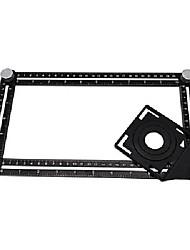 cheap -Aluminum Alloy Six Fold Rule, Ceramic Tile Hole Locator, Bricklayer Paving Floor Tile Glass Universal Drilling Measuring Ruler