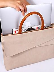 cheap -Luxury Fashion PU Leather Women Briefcase Business 14 Inch Laptop Bag Female Handbags Shoulder Messenger Bag Commuter Bags