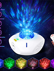 cheap -Star Galaxy Projector Light Projector Light Remote Controlled Laser Light Projector Smart App Control Party Wedding Gift RGB+White