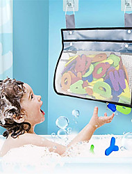 cheap -Bath Toy Organizer Mesh Bag with Suction & Sticker Hooks,Bottom Zippered Bathtub Shower Toy Organizer Multiple Ways to Hang,Bathtub Toy Holder for Holding Toys,Baby Diapers,Clothes