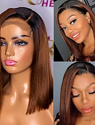 cheap -180 Density  13x4 Front Human Hair Wigs Pre Plucked Brazilian Straight Remy 24 26 Inch Lace Closure Frontal Wig For Women