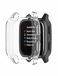 cheap -screen protector case compatible with garmin venu sq/venu sq music smartwatch accessories tencloud covers scratched resistant full protective cover for venu sq music (clear)