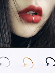 cheap -Labret / Lip Piercings / Lip Ring Simple Fashion European Women's Body Jewelry For Halloween Street Stainless Steel + A Grade ABS Gold 3 PCS