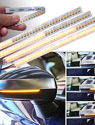 cheap -OTOLAMPARA High Lightness 14W Rear Mirror Turn Signal Light Amber Color Easy Installation Flexible Style Multi-functional Flowing LED Strip Light 2pcs