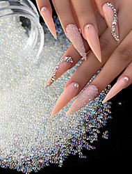 cheap -3 Pcs/set Caviar Beads Crystal Tiny Rhinestone For Manicure Glass Balls Micro Bead For Nail Decorations DIY Charms Nail Art Accessories
