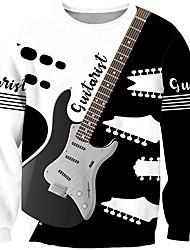 cheap -Men's Unisex Plus Size Sweatshirt Pullover Sweatshirt Graphic Prints Guitar Print Round Neck Casual Daily Holiday 3D Print Basic Designer Hoodies Sweatshirts  Long Sleeve 1 2 3