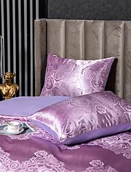 cheap -2 Pack 50*75cm Pillowcases/Pillow Shams Like Satin Silk Soft Luxury Plain/Solid Purple
