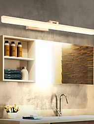 cheap -LED Mirror Light Vanity Light Matte Modern 50cm 60cm 70cm Bathroom Lighting Bathroom Aluminum Wall Light IP20 110-240 V 0 W