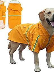 cheap -kewaii dog raincoat casual light pet raincoat reflective waterproof dog raincoat with transparent hat large dog medium dog (orange, 2xl(back length 17.72in))-fits 20-30 pounds for dogs