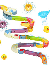 cheap -Baby Toddler Bath Toys Bathtub Ball Track Assembly Set 66 Pcs Bath Stem Water Toys for Toddlers Bathroom Kids Slide Suction Cup Floating Duck Shower Games Birthday Gifts for Boys Girls