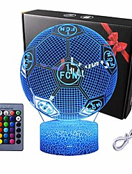 cheap -3D Night Lights Euro Cup Football for Kids Baby Teen Children 3D Soccer Illusion Lamp Birthday Party Gift for Sport Fans Bedside Table Desk Multi Color Remote Lamp Living Room Decor Nursery Lighting