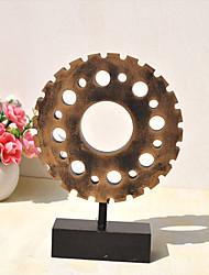 cheap -Retro Industrial Style Mini Gear Decoration Creative Furniture Wooden Tabletop Decoration