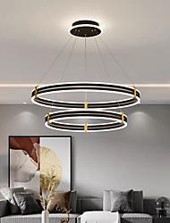 cheap -LED Pendant Light Circle Ring Design Black 2-Ring 3-Ring Lantern Desgin Aluminum Painted Finishes Modern Living Room Bedroom 220-240V 110-120V