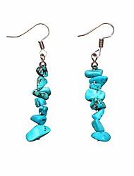 cheap -gbahfy hoop earrings women girl elegant multicolor natural stone dangle beaded tassel earrings (stone dangle earrings-blue)