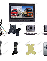 cheap -truck recorder monitors 12/24v front and rear two-channel four-channel multi-lens loop video reversing image night vision head