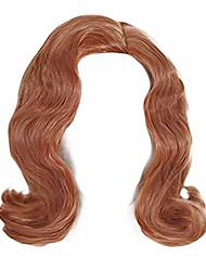 cheap -halloweencostumes nuwind beth harmon wig women girls gambit brown orange short curly hair synthetic wigs halloween party cosplay props