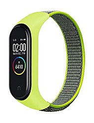 cheap -nylon strap for mi-band 5 4 3 interchangeable sports armband # 568 (color: flash, size: for mi band 5)
