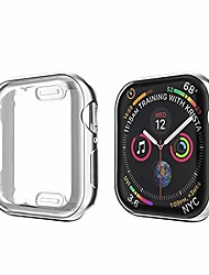 cheap -Smart watch Case watch cover case for apple watch series 6 5 4 3 2 1 case 42mm 44mm slim tpu case screen protector for iwatch (silver, 44mm)