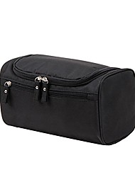 cheap -honghong hanging waterproof makeup cosmetic toiletry bags travel wash bag case (black)