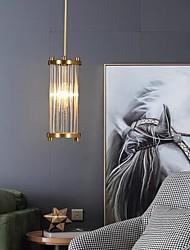 cheap -LED Pendant Light Kitchen Island Light Bedside Light Modern Crystal Gold 9 cm Lantern Desgin Metal Electroplated 220-240V 110-120V