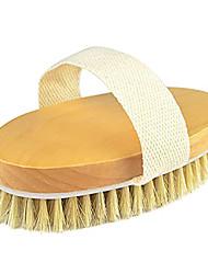 cheap -Dry Brushing Body Brush Natural Bristle Dry Skin Exfoliating Brush Body Scrub for Flawless Skin Cellulite Treatment Lymphatic Drainage and Blood Circulation Improvement Medium Strength