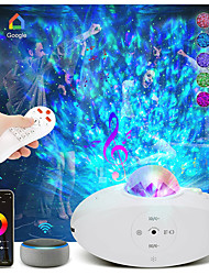 cheap -Star Galaxy Projector Light Projector Light Remote Controlled Laser Light Projector Smart App Control Party Party Halloween Gift  RGB+White